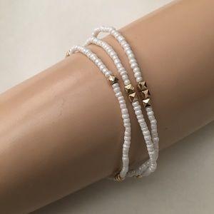 Baublebar Bead Gold Tone Wrap Bracelet Necklace